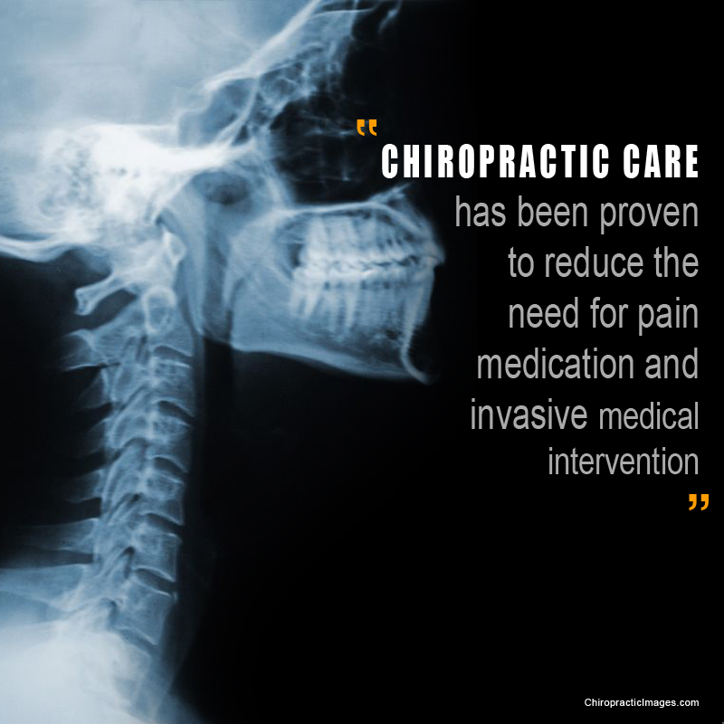 chiropractic can reduce the need for pain medication