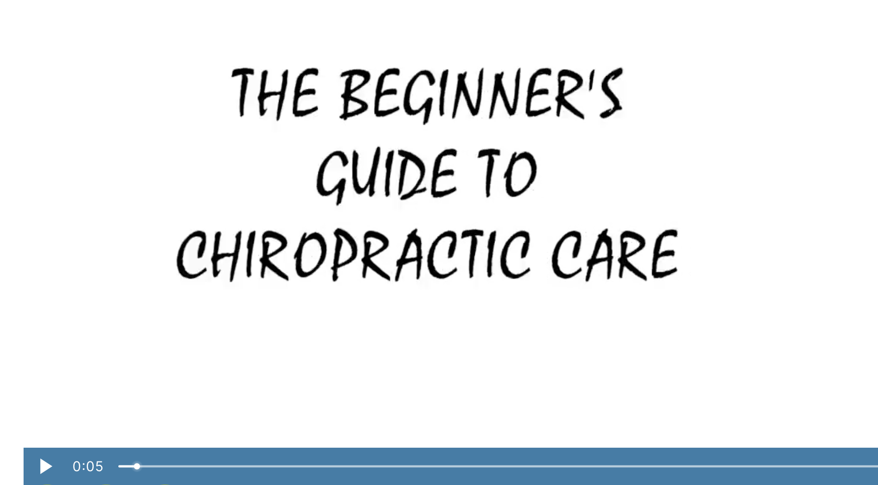 The beginners guide to chiropractic