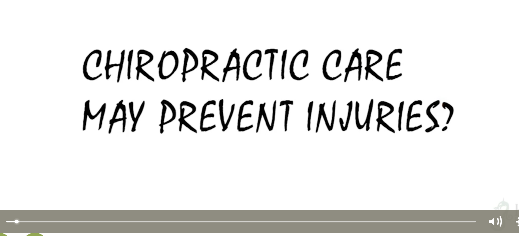 Chiropractic care may prevent injuries