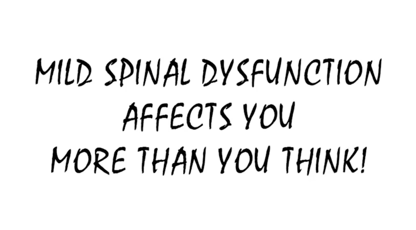 mild spinal dysfunction and chiropractic